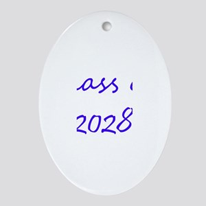 Class of 2028 Oval Ornament