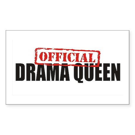Drama Queen Rectangle Sticker