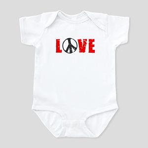 MAKE LOVE NOT WAR BUMPER STIC Infant Bodysuit