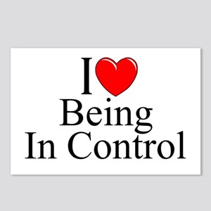 """""""I Love (Heart) Being In Control"""" Postcards (Packa"""