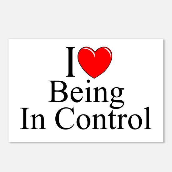 """I Love (Heart) Being In Control"" Postcards (Packa"