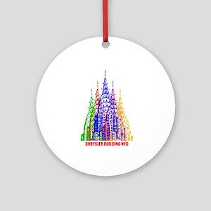 Chrysler building Ornament (Round)