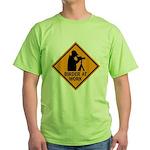 Birder at Work Green T-Shirt