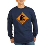 Birder at Work Long Sleeve Dark T-Shirt
