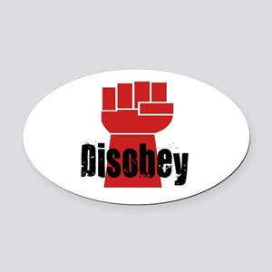 Disobey Oval Car Magnet