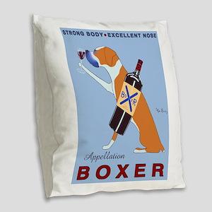 Appellation Boxer Burlap Throw Pillow