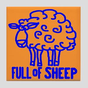 FULL OF SHEEP Tile Coaster
