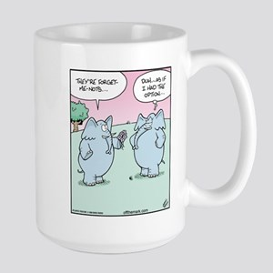 Elephant Forget-Me-Nots Large Mug