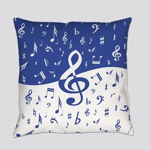 Mariner Blue and White Musical not Everyday Pillow