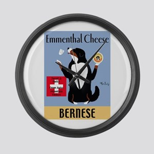 Bernese Emmenthal Cheese Large Wall Clock