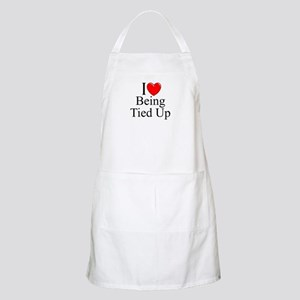 """I Love (Heart) Being Tied Up"" BBQ Apron"