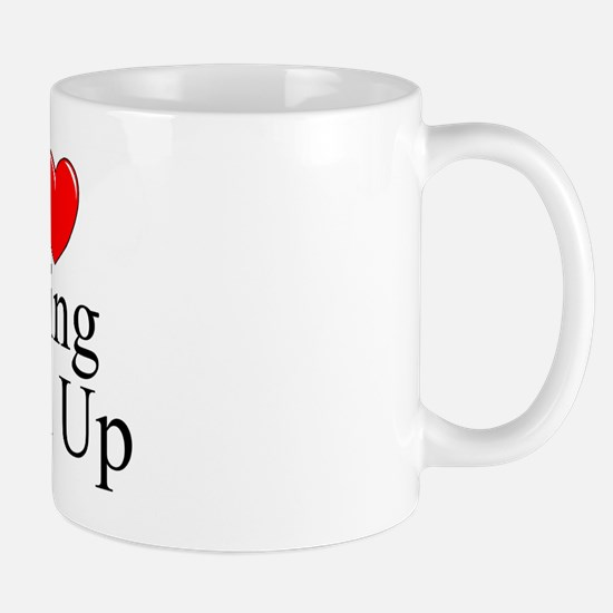 """I Love (Heart) Being Tied Up"" Mug"