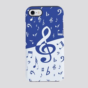 Mariner Blue and White Music iPhone 8/7 Tough Case