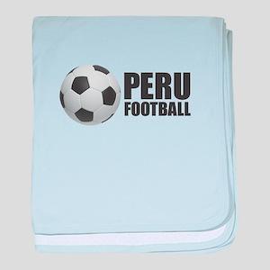 Peru Football baby blanket