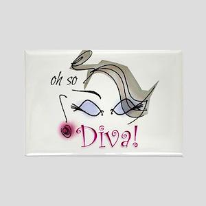 Oh so Diva Rectangle Magnet