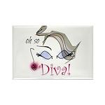 Oh so Diva Rectangle Magnet (10 pack)