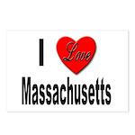 I Love Massachusetts Postcards (Package of 8)