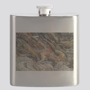 Rock swirls in nature Flask