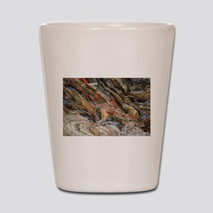 Rock swirls in nature Shot Glass