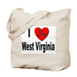 I Love West Virginia Tote Bag