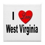 I Love West Virginia Tile Coaster
