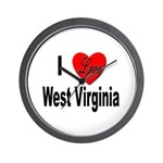 I Love West Virginia Wall Clock