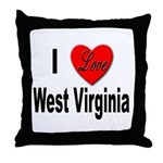 I Love West Virginia Throw Pillow