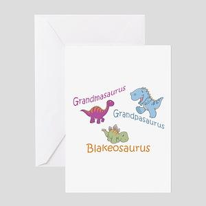 Grandma, Grandpa, & Blakeosau Greeting Card