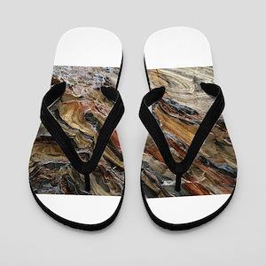 Rock swirls in nature Flip Flops