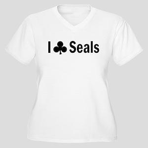 Seal Club Women's Plus Size V-Neck T-Shirt