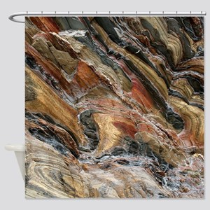 Rock swirls in nature Shower Curtain