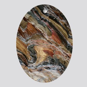 Rock swirls in nature Oval Ornament