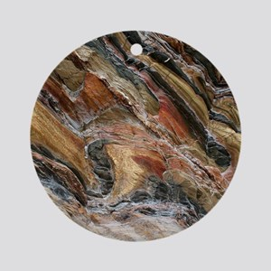 Rock swirls in nature Round Ornament