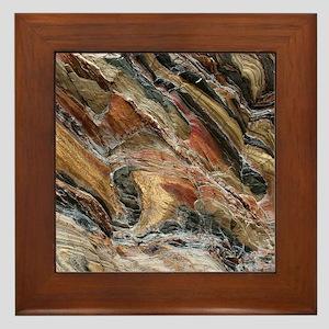 Rock swirls in nature Framed Tile