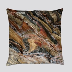 Rock swirls in nature Everyday Pillow