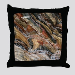Rock swirls in nature Throw Pillow