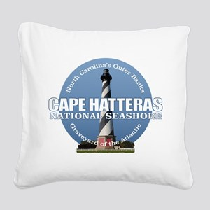 Cape Hatteras Light Square Canvas Pillow