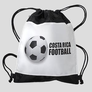 Costa Rica Football Drawstring Bag