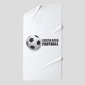 Costa Rica Football Beach Towel