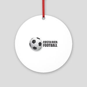 Costa Rica Football Round Ornament
