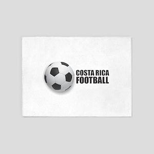 Costa Rica Football 5'x7'Area Rug