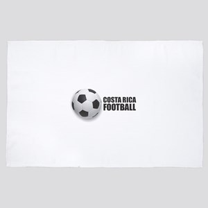 Costa Rica Football 4' x 6' Rug