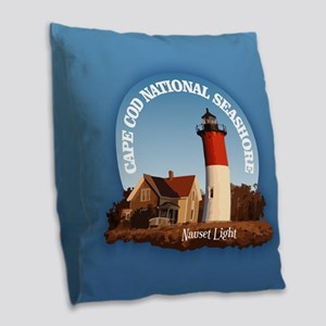 Cape Cod National Seashore Burlap Throw Pillow