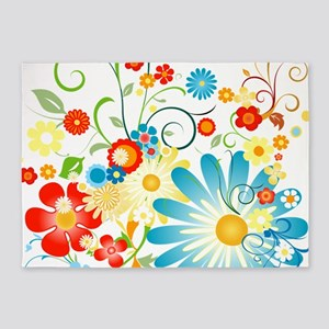 Multi Floral designer pattern 5'x7'Area Rug