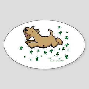SCWT shamrock Jump Oval Sticker
