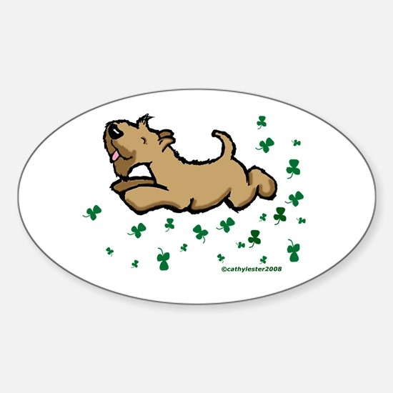 SCWT shamrock Jump Oval Decal