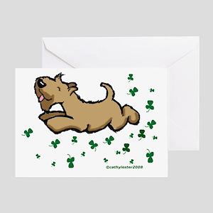 SCWT shamrock Jump Greeting Card