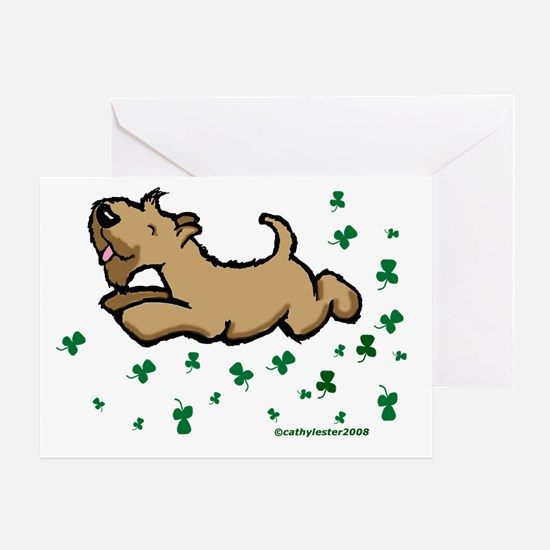 SCWT shamrock Jump Greeting Card