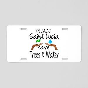 Please Saint Lucia Save Tre Aluminum License Plate