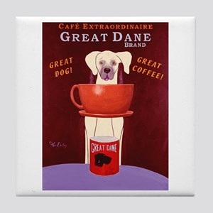 Great Dane Coffee Tile Coaster